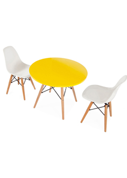 Amazing Cielshop Kids Eames Style Table And 2 X Chair Set Bralicious Painted Fabric Chair Ideas Braliciousco